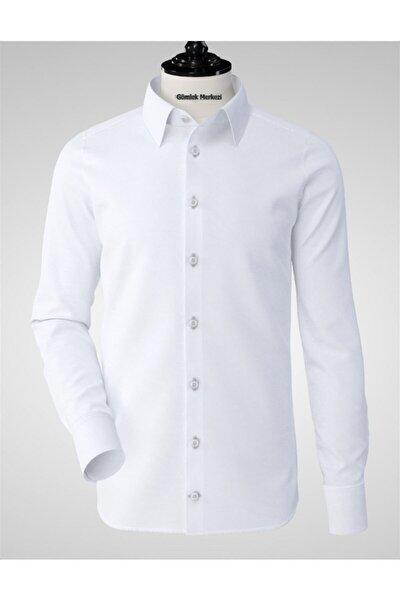 Erkek Beyaz Klasik  Gömlek