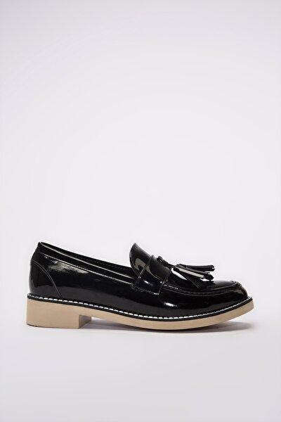 Siyah Kadın Loafer Ayakkabı 01AYY192020A100
