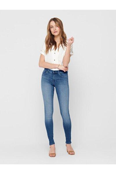 Shape Regular Skınny Mavi Taşlama Jeans