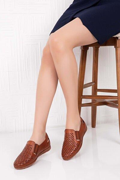 Kadın Taba  Deri Ortopedik Taban Günlük Ayakkabı