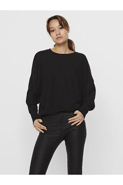 Kadın Siyah Uzun Kollu Üst Örme Kazak 10237425 Vmbella