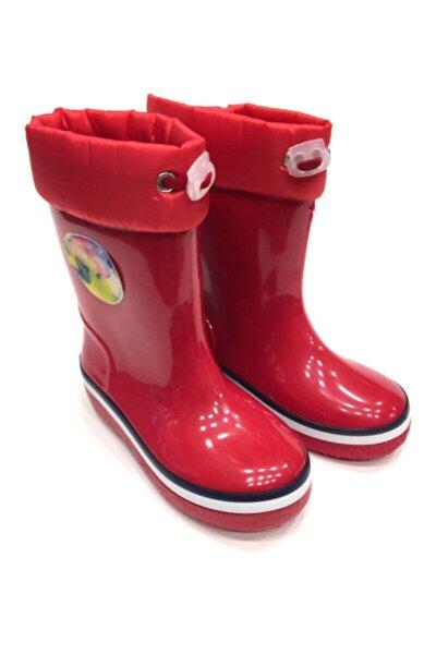 Unisex Çocuk Kırmızı Yağmur Çizmesi (25-36)