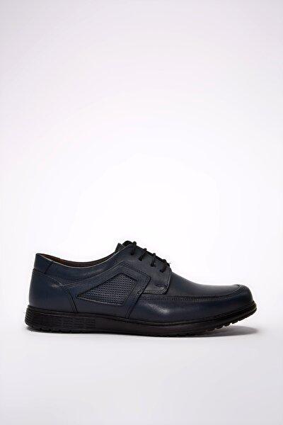 Hakiki Deri Lacivert Erkek Klasik Ayakkabı 02AYY194990A680