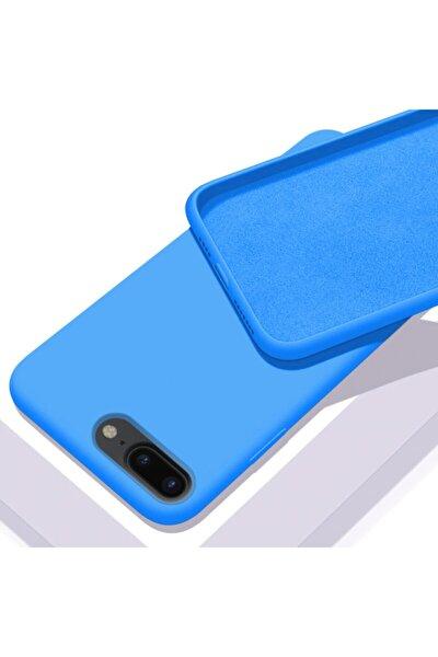 Apple Iphone 7 Plus - 8 Plus Içi Kadife Lansman Silikon Kılıf Mavi