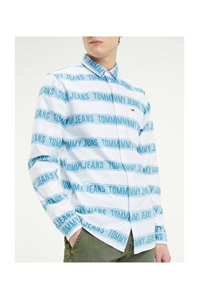 Erkek Beyaz Gömlek Tjm Branded Strıpe Shırt DM0DM06560