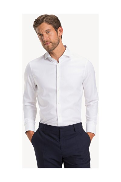 Erkek Beyaz Gömlek Oxford Wıde Spread Slım Shırt TT0TT04360