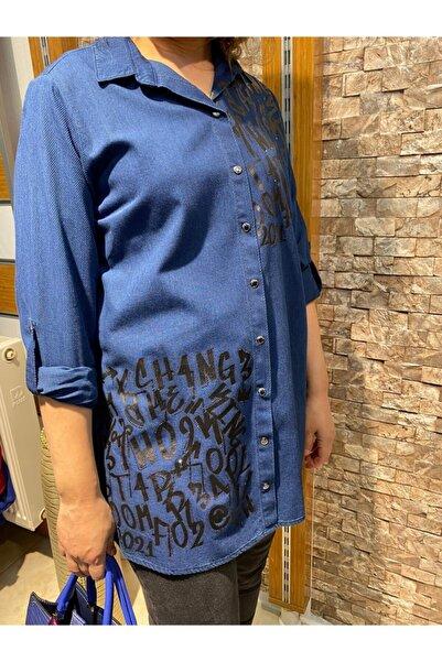 Büyük Beden Lacivert Gömlek