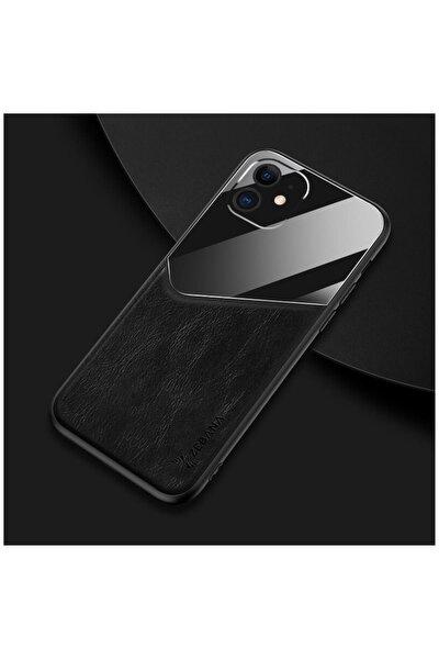 Apple Iphone 11 Kılıf Zebana New Fashion Deri Kılıf Siyah