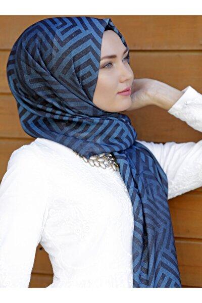 Kadın Turkuaz Mavi Şal