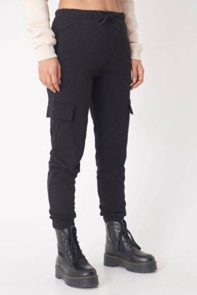 Kadın Siyah Cep Detaylı Eşofman Altı ADX-0000016533