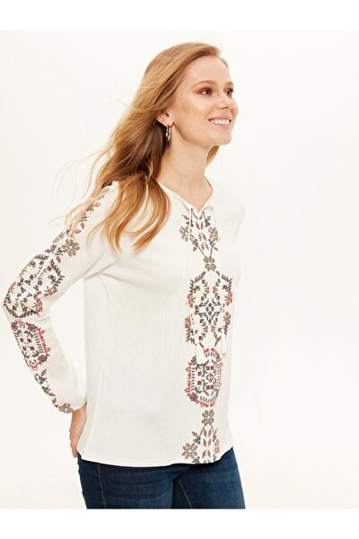 Kadın Optik Beyaz T-shirt 0SA174Z8