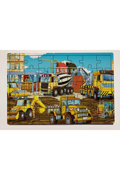 Iş Makinaları 35 Parça Ahşap Puzzle Yapboz