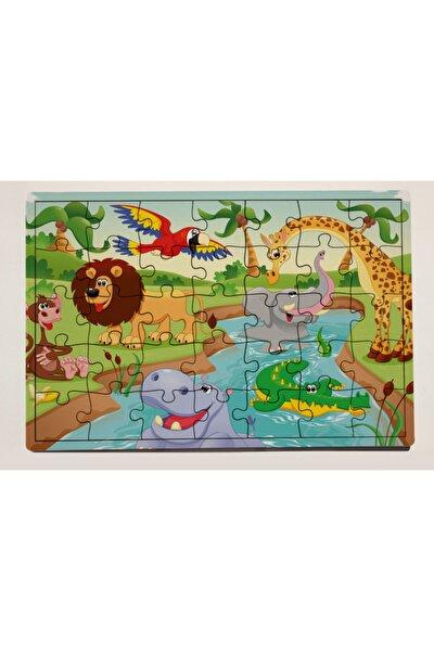 Orman Partisi 35 Parça Ahşap Puzzle