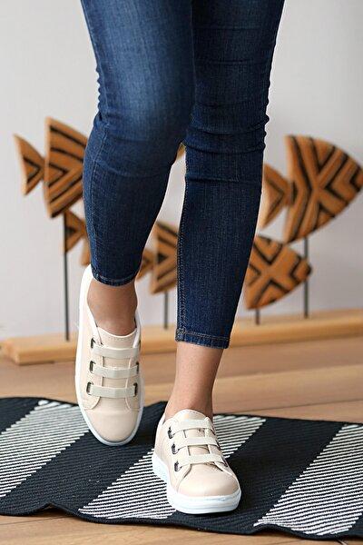 Kadın Krem Ayakkabı