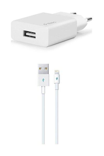 Beyaz Smartcharger Hızlı Şarj Aleti 2.1a + Lightning Kablo