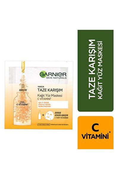 Taze Karışım Kağıt Yüz Maskesi Vitamin C 8690595823928