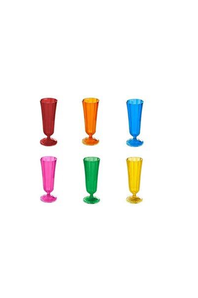 Morocco 6 Renk 6'lı Flüt Bardak