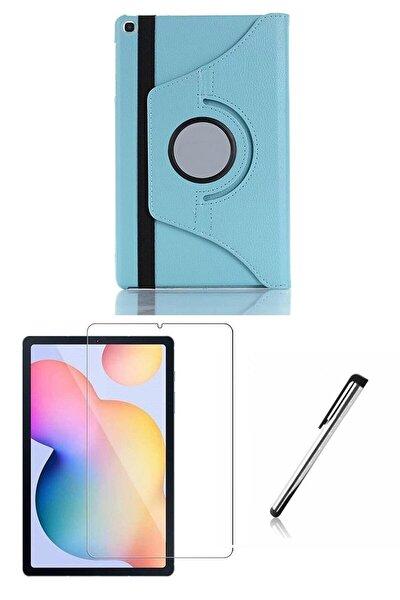 Samsung Galaxy Tab S6 Lite P610 Turkuaz Dönerli Tablet Kılıf Seti (10.4 Inç)