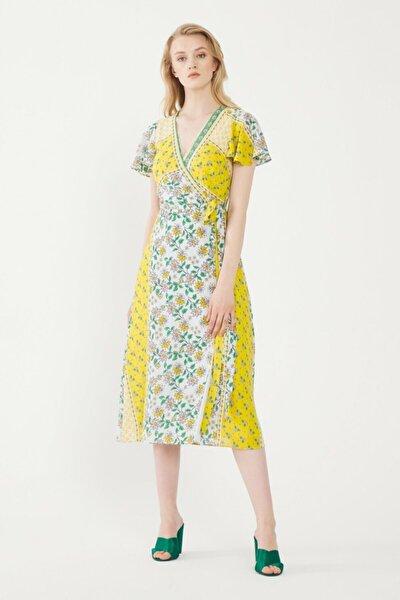 Kadın Lime Kruvaze Elbise