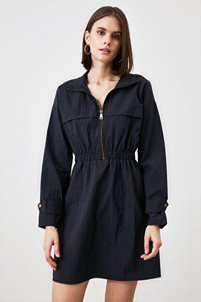 Lacivert Fermuarlı Elbise TWOAW21EL2057