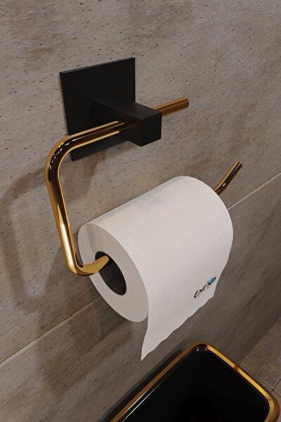 Gold Paslanmaz Çelik Wc Kağıtlık Tuvalet Kağıtlığı Tuvalet Kağıdı Askısı Yapışkanlı Tasarım