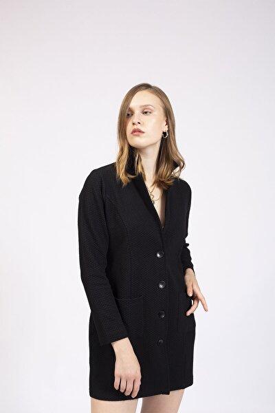 Kadın Siyah Klasik Ceket