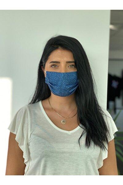 10 Adet Desenli Baskılı Maske 3katlı, Burun Telli Meltblown Ara Katman