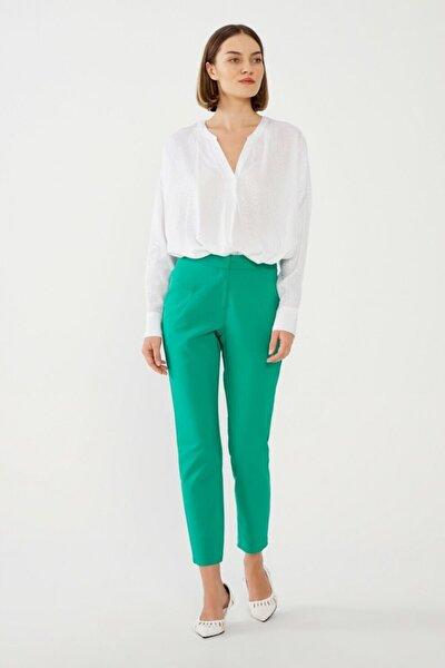 Kadın Yeşil Dar Paça Pantolon
