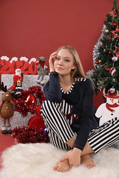 Kadın Lacivert Lohusasepeti 20230 Missy Pijama Takımı