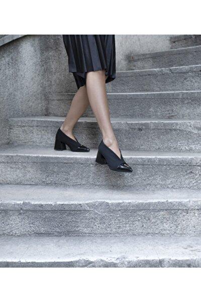 Kadın Siyah Rugan Ayakkabı 7279