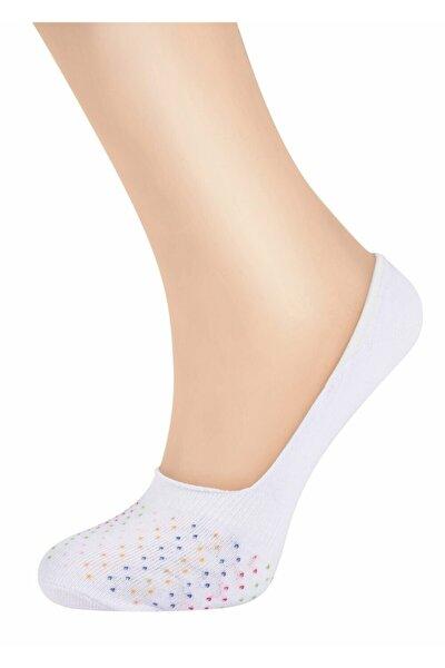 Kadın Ekru Dot Babet Çorap