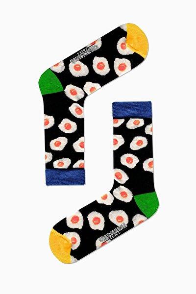Yumurta Desenli Renkli Çorap