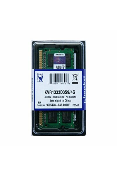 4gb Ddr3 1333mhz Notebook Ram Pc3-10600 - Kvr1333d3s9/4g