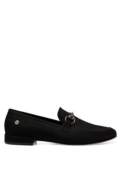 Suela Siyah Kadın Loafer Ayakkabı