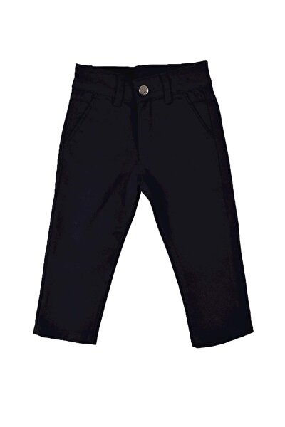 Erkek Çocuk Siyah Keten Pantolon