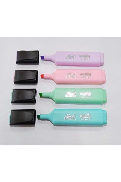 Pastel Fosforlu Kalem 4 Renk 4'lü Paket (y)