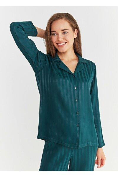 Kadın Yeşil Diana Maskulen Pijama Takımı
