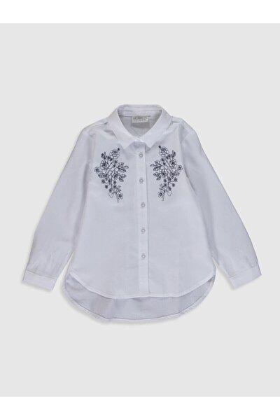 Kız Çocuk Optik Beyaz E5X Gömlek
