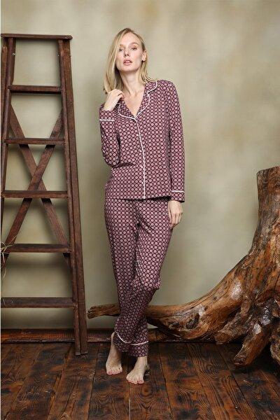 Kadın  Gömlek Pijama Takım