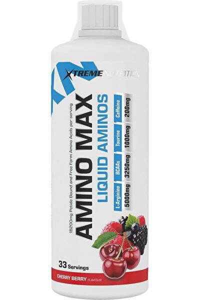 Amino Max Liquid Aminos 18,200 mg 1000 ml 33 Servis Vişne & Orman Meyveli Pre Workout