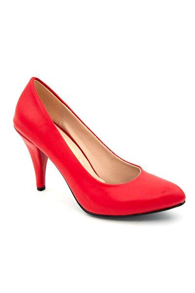 Kadın Kırmızı Stiletto Ayakkabı