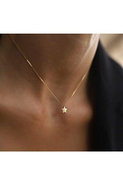 Kadın Rose Renk Zarif Tek Yıldız Gümüş Kolye