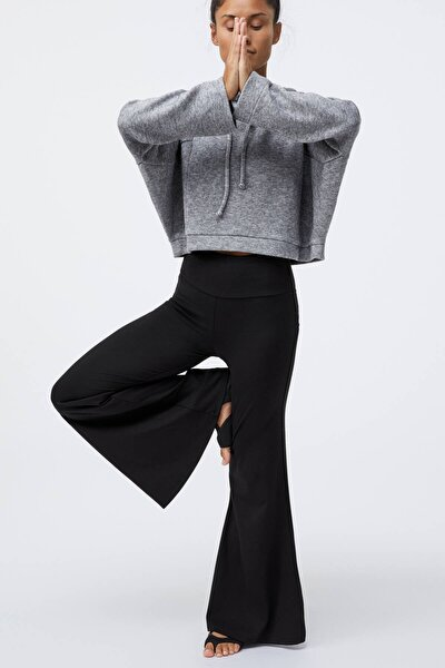 Kadın Siyah Comfort Bell Pantolon