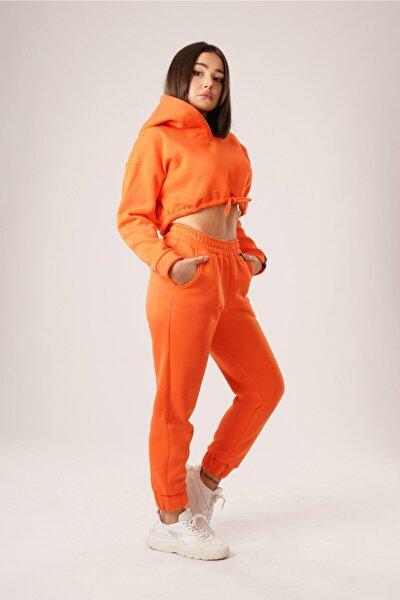 Kadın Turuncu Jogger Pantolon