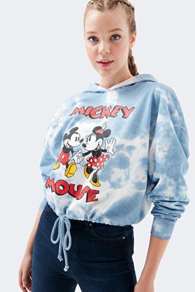 Mickey Baskılı Batik Sweatshirt