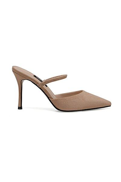 Naturel Kadın Topuklu Ayakkabı