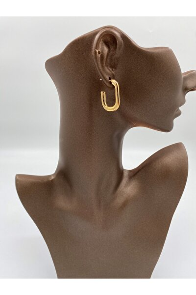 Kadın L Gold Halka Küpe