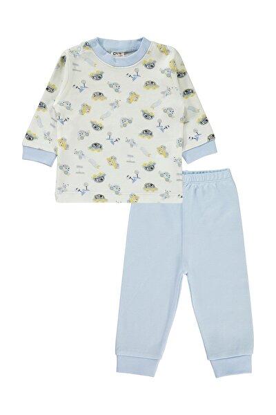 Erkek Bebek Pijama Takımı 3-12 Ay Mavi