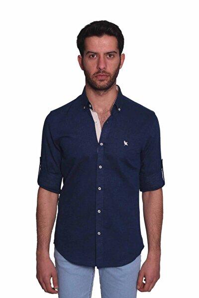 Erkek Lacivert Uzun Kollu Gömlek  1812087