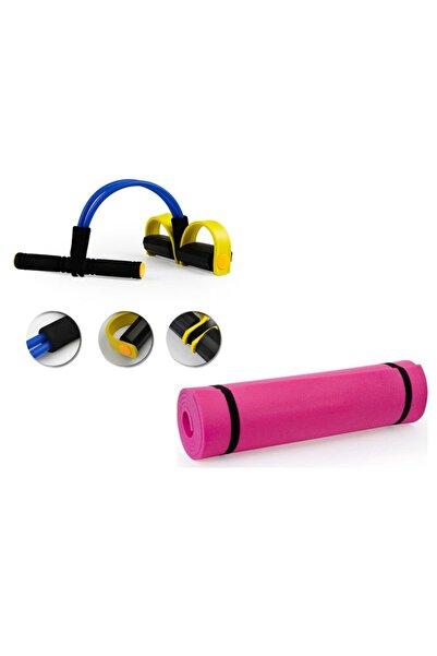 Body Trimmer Çift Taraflı Yoga Matı/pilates Minderi Hediyeli Egzersiz Seti